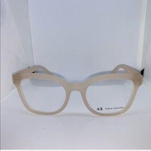 Armani Exchange AX Matte Opal Milky Eyeglasses